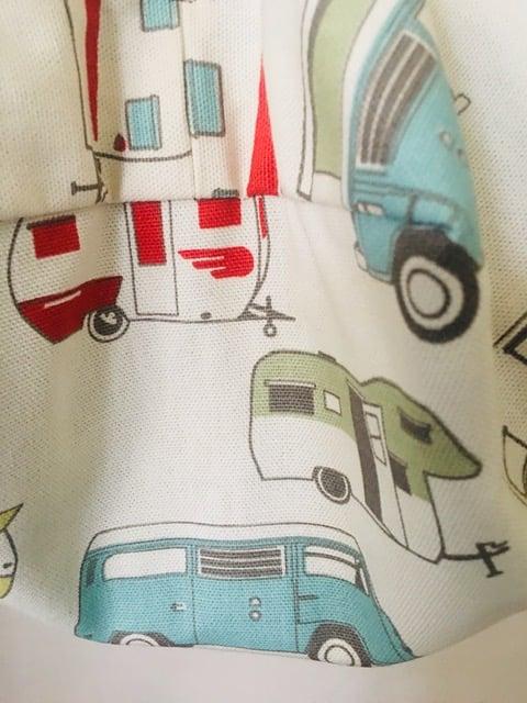 Japanese Origami Bag,  Retro Vintage Camper Summer Bag, Shoulder Cross Body Bag