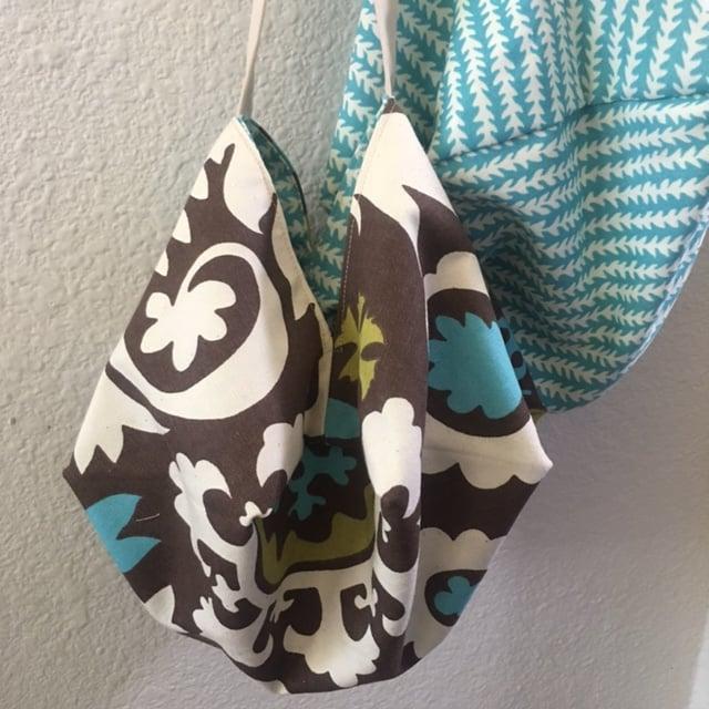Japanese Origami Bag, Hipster Tropical Summer Bag, Shoulder Cross Body Bag