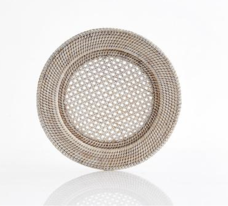 Image of Rattan Charger, Old grey