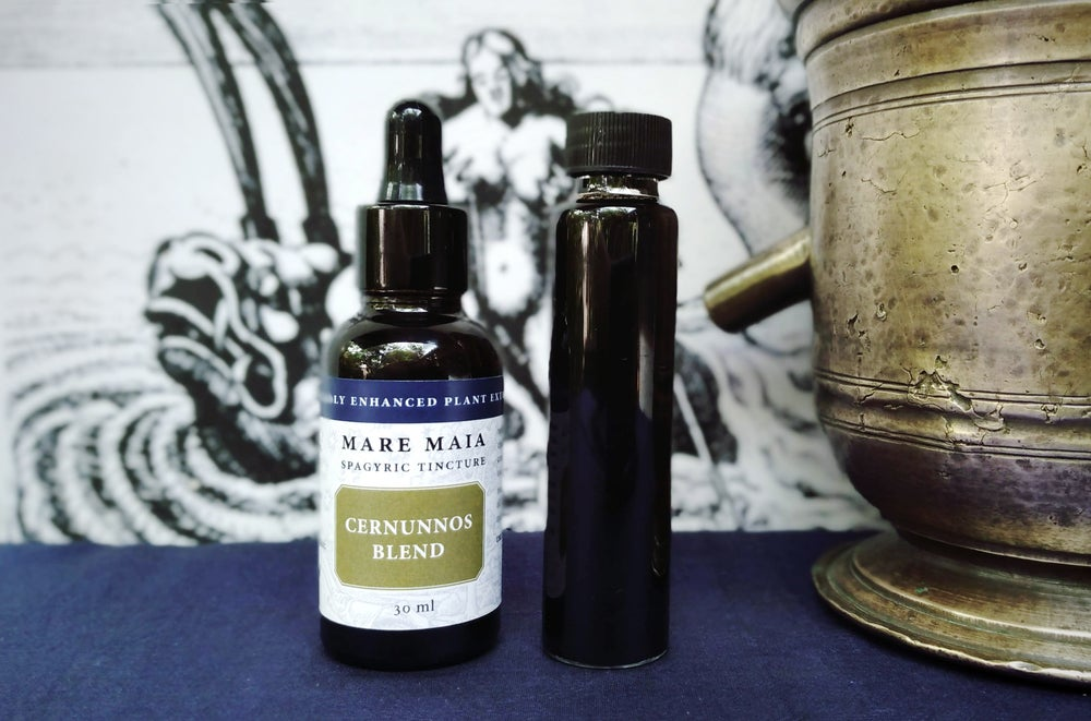Image of CERNUNNOS BLEND spagyric tincture - alchemically enhanced plant extraction