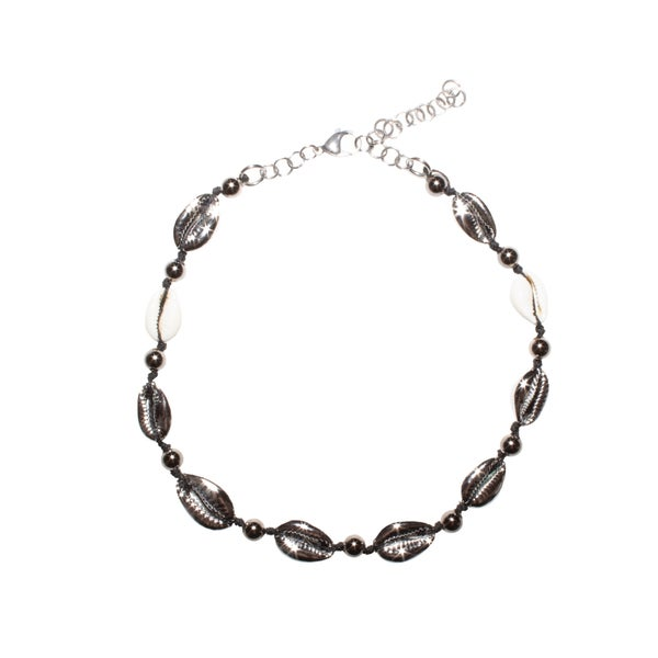 Image of Cowrie Shell Silver Choker
