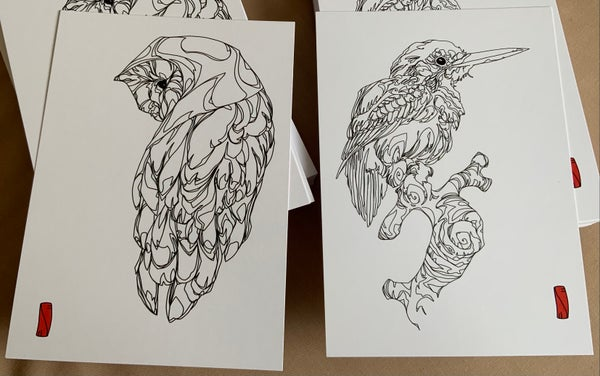 Image of TWO BIRDS : two print set : Limited Edition
