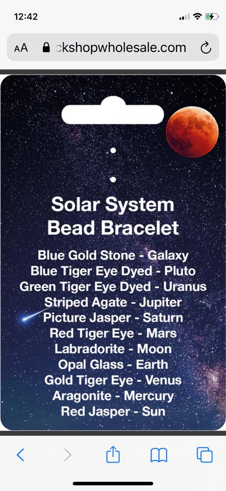 Image of Solar System Crystal Bracelet