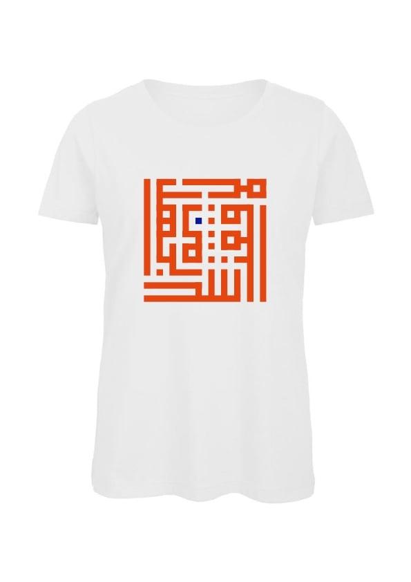 Image of Woman t-shirt - Orange B calligraffiti