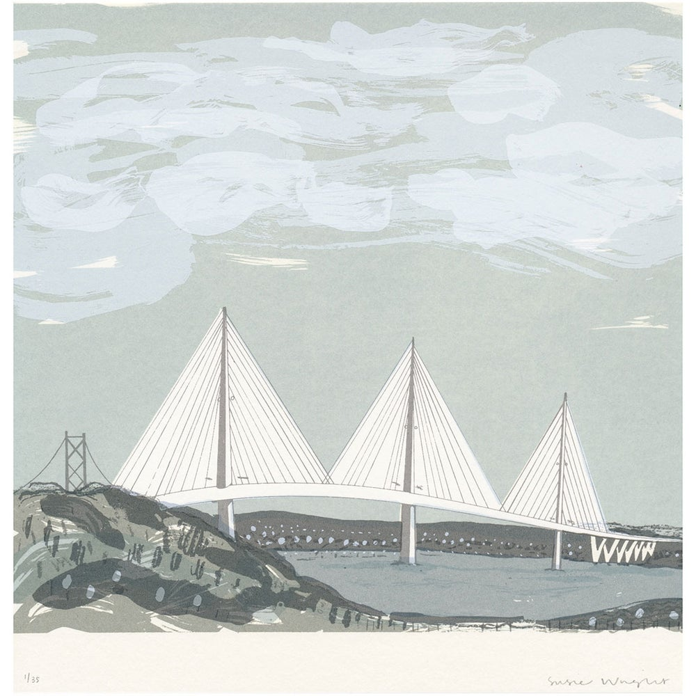 Image of Queensferry Crossing square screen print