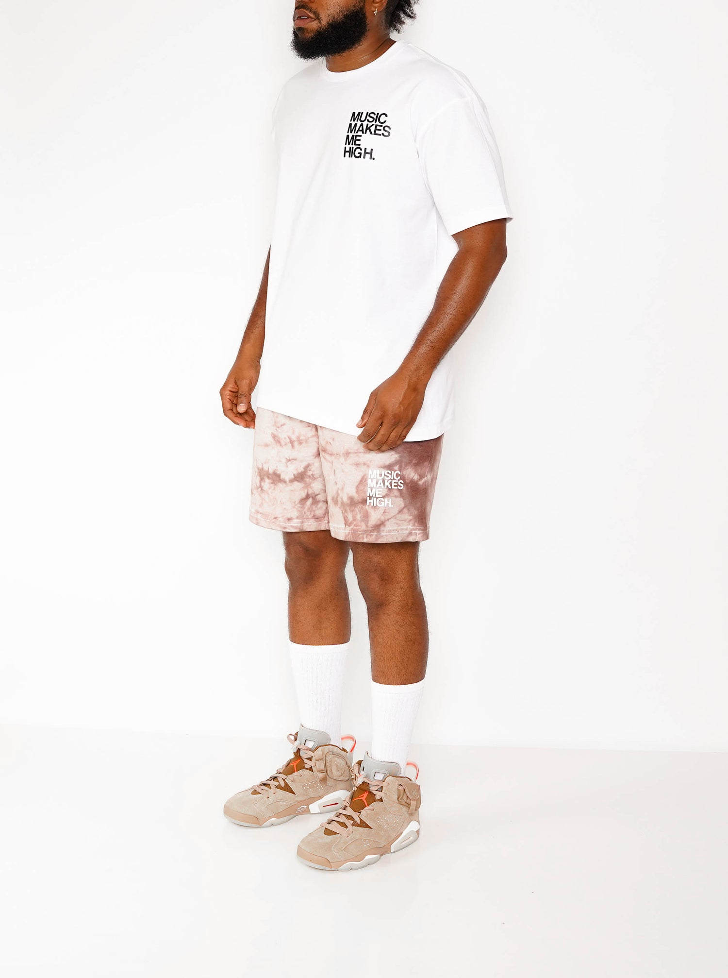 Image of MMMH French Terry Shorts * BROWN TiE-DYE (unisex)