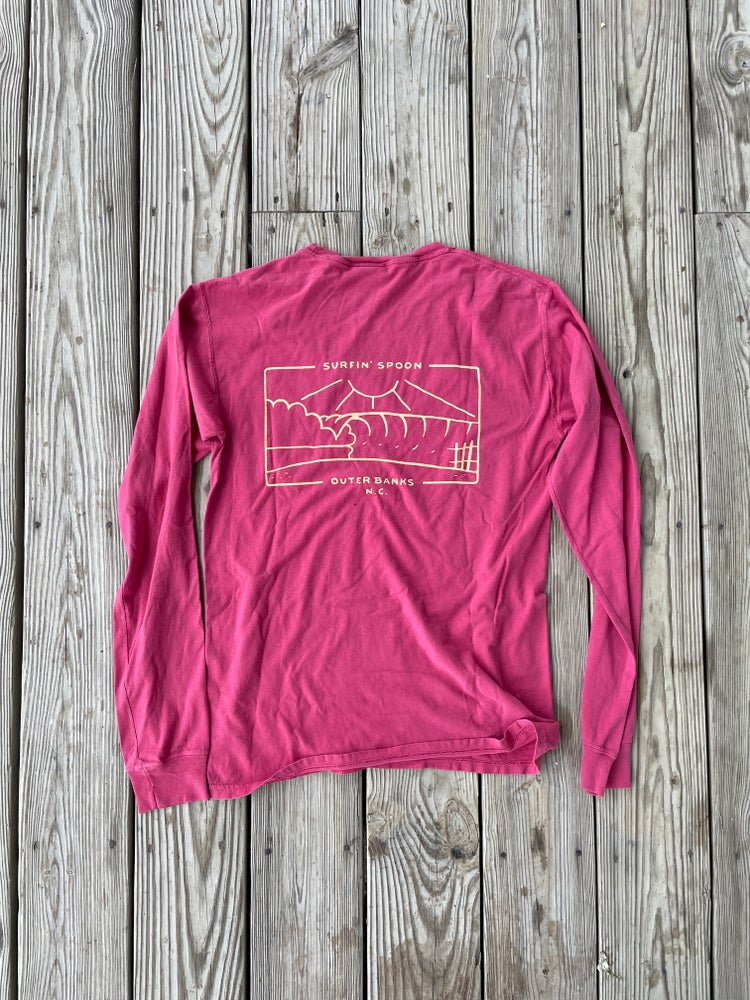 Image of NEW // Spoon Surfboard Long Sleeve - Red