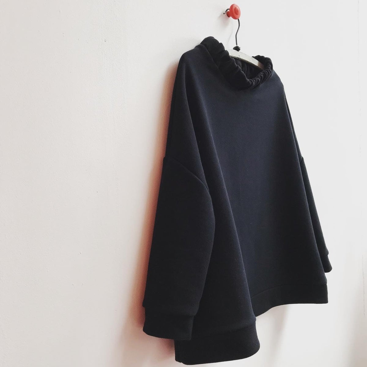 Image of Ruched Neck Square Sweatshirt