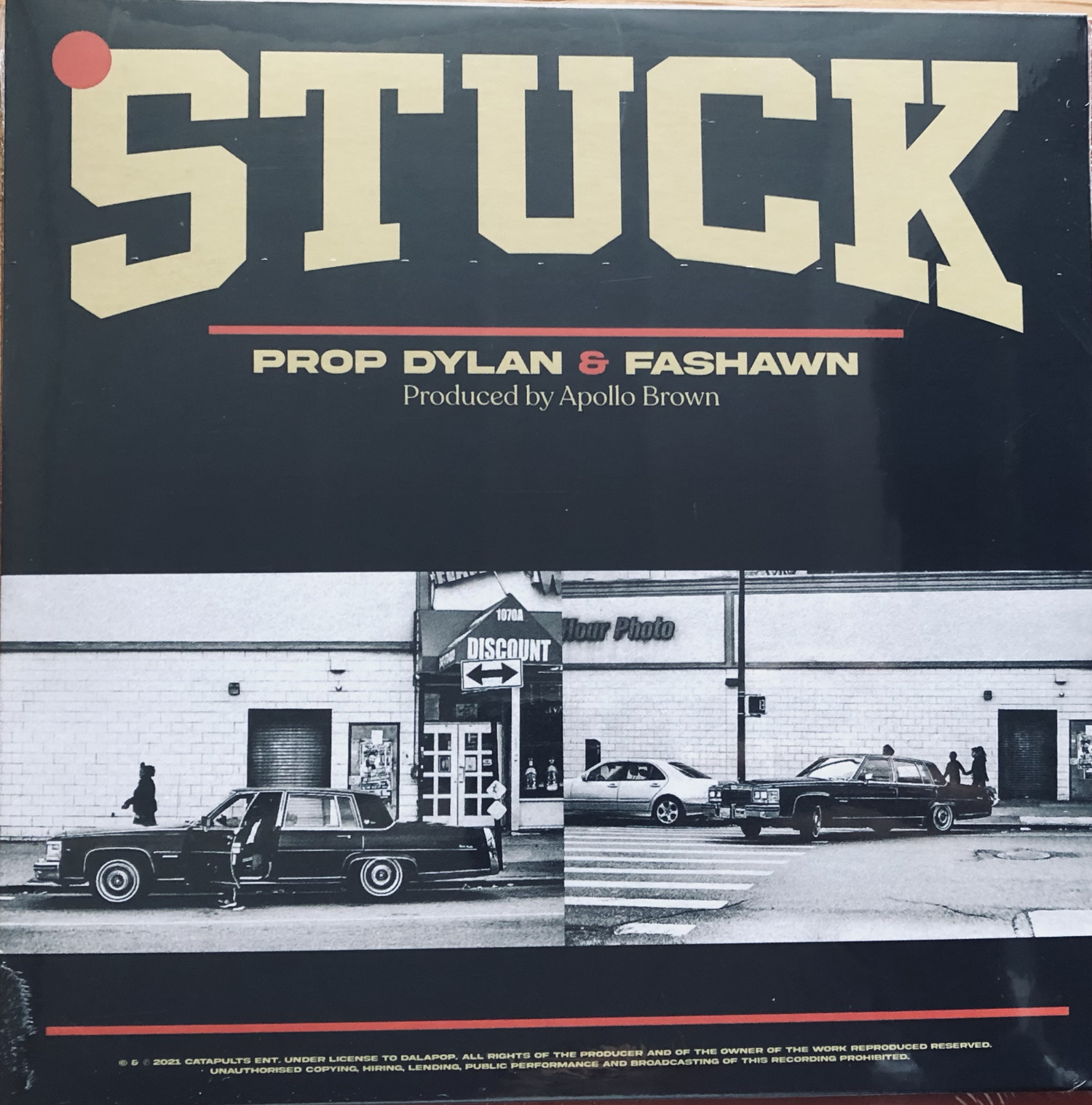 """Image of Prop Dylan - """"Stuck"""" ft. Fashawn & Apollo Brown 7"""" inch vinyl"""
