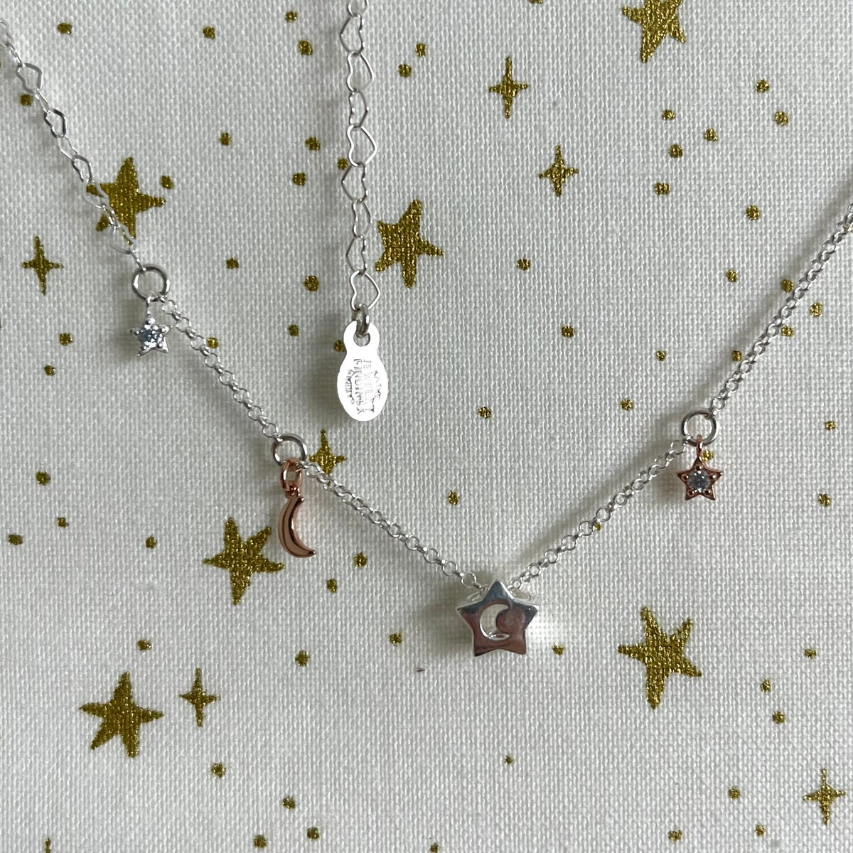 Image of Stars and moons necklace