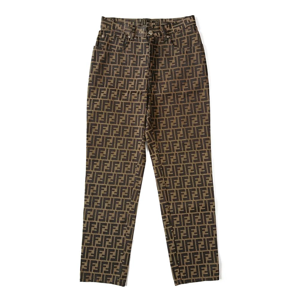 Image of Fendi FF Zucca Trousers