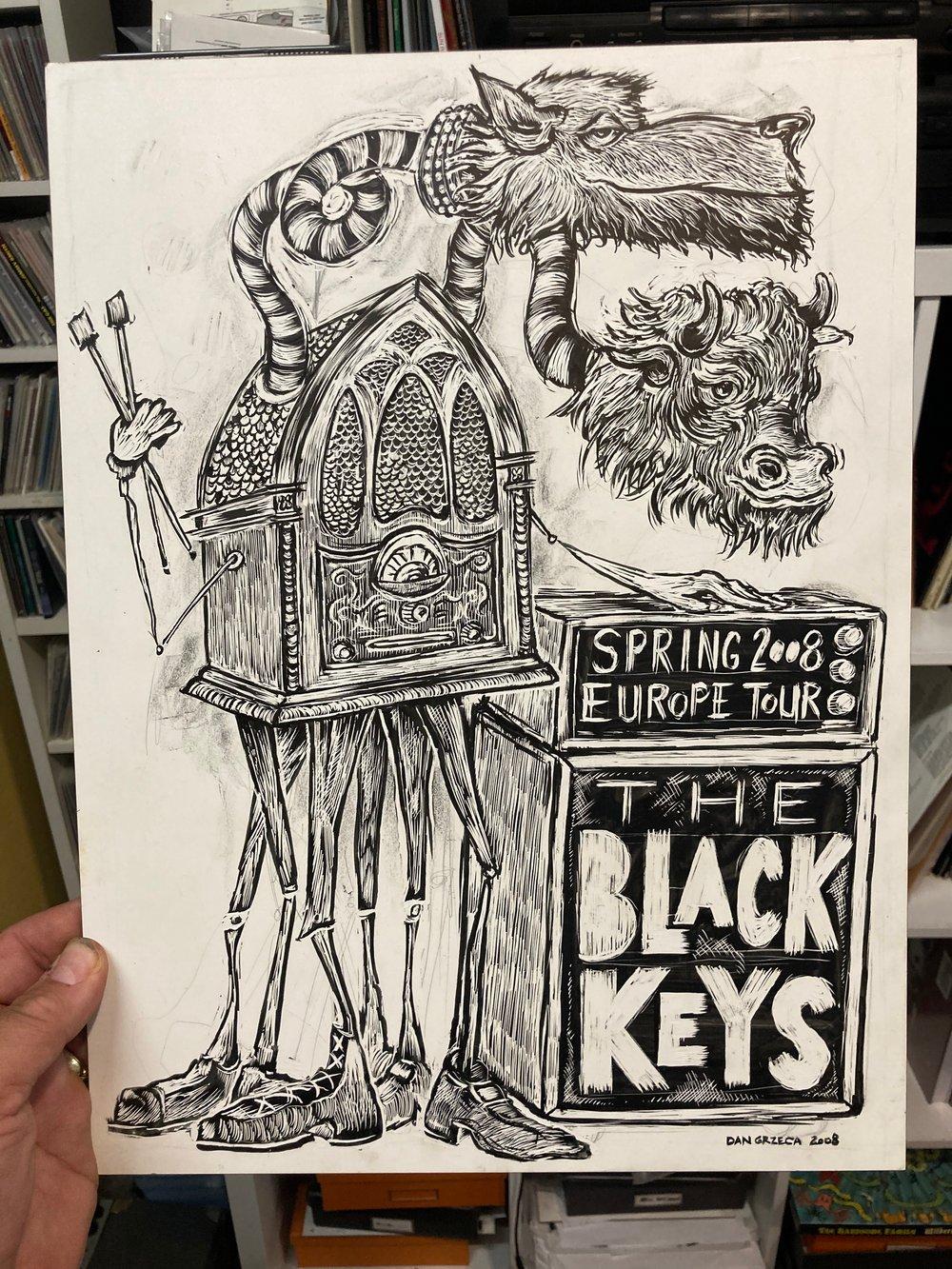 Black Keys Europe 2008 original Art