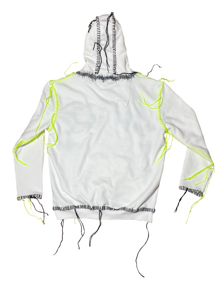 Image of SUMMER OF CHAOS WHITE HOODIE