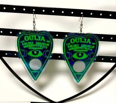 Image of Green Ouija Earrings