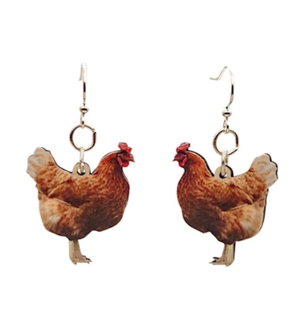 Image of Colorful Chicken Earrings