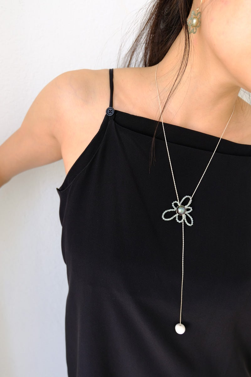 Image of daisy lariat necklace