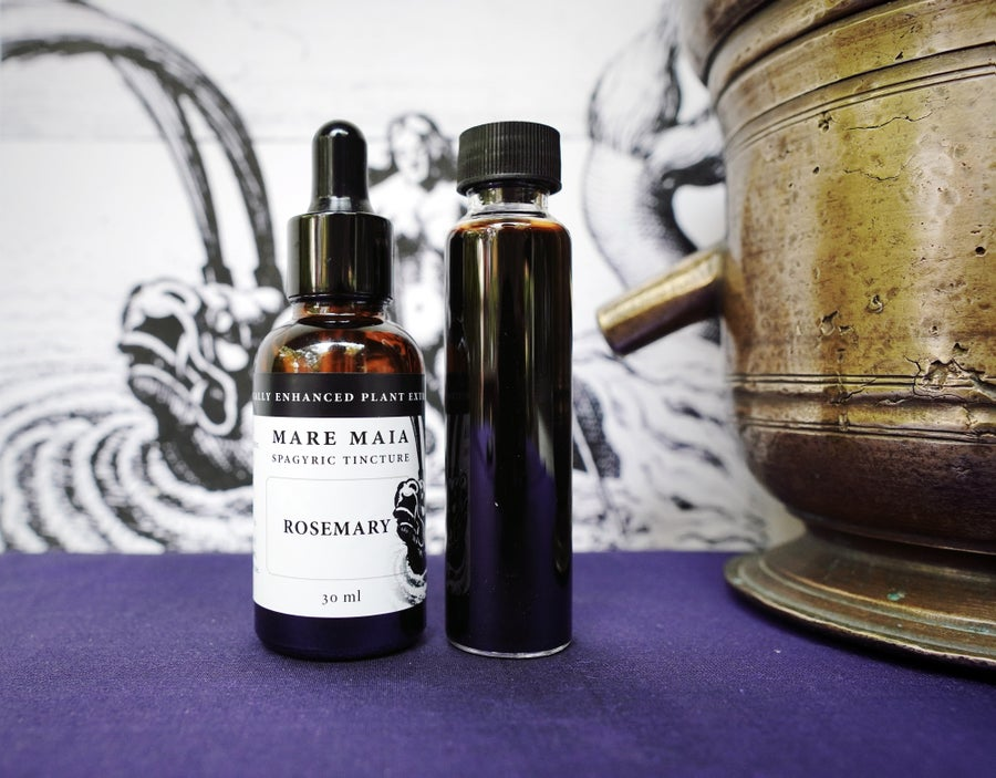 Image of ROSEMARY spagyric tincture - alchemically enhanced plant extraction