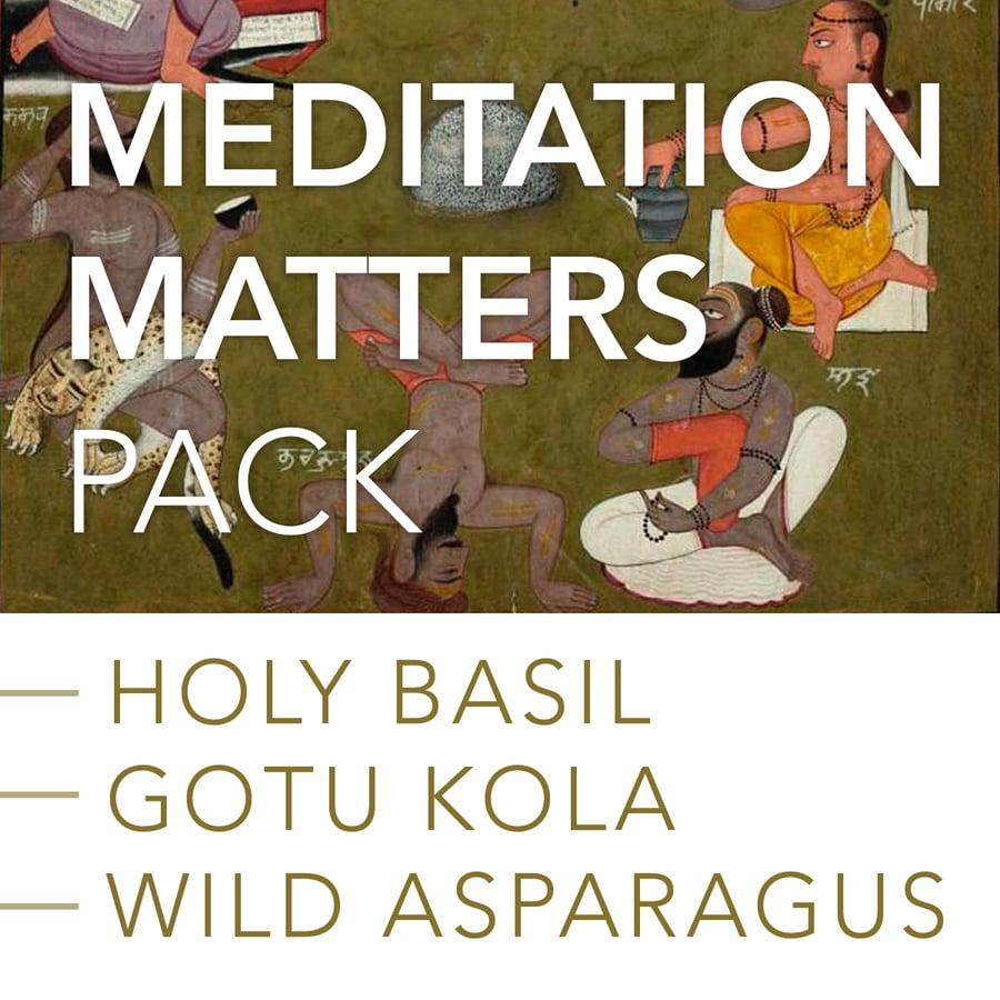Image of MEDITATION MATTERS Pack: Holy Basil, Gotu Kola and Wild Asparagus Root