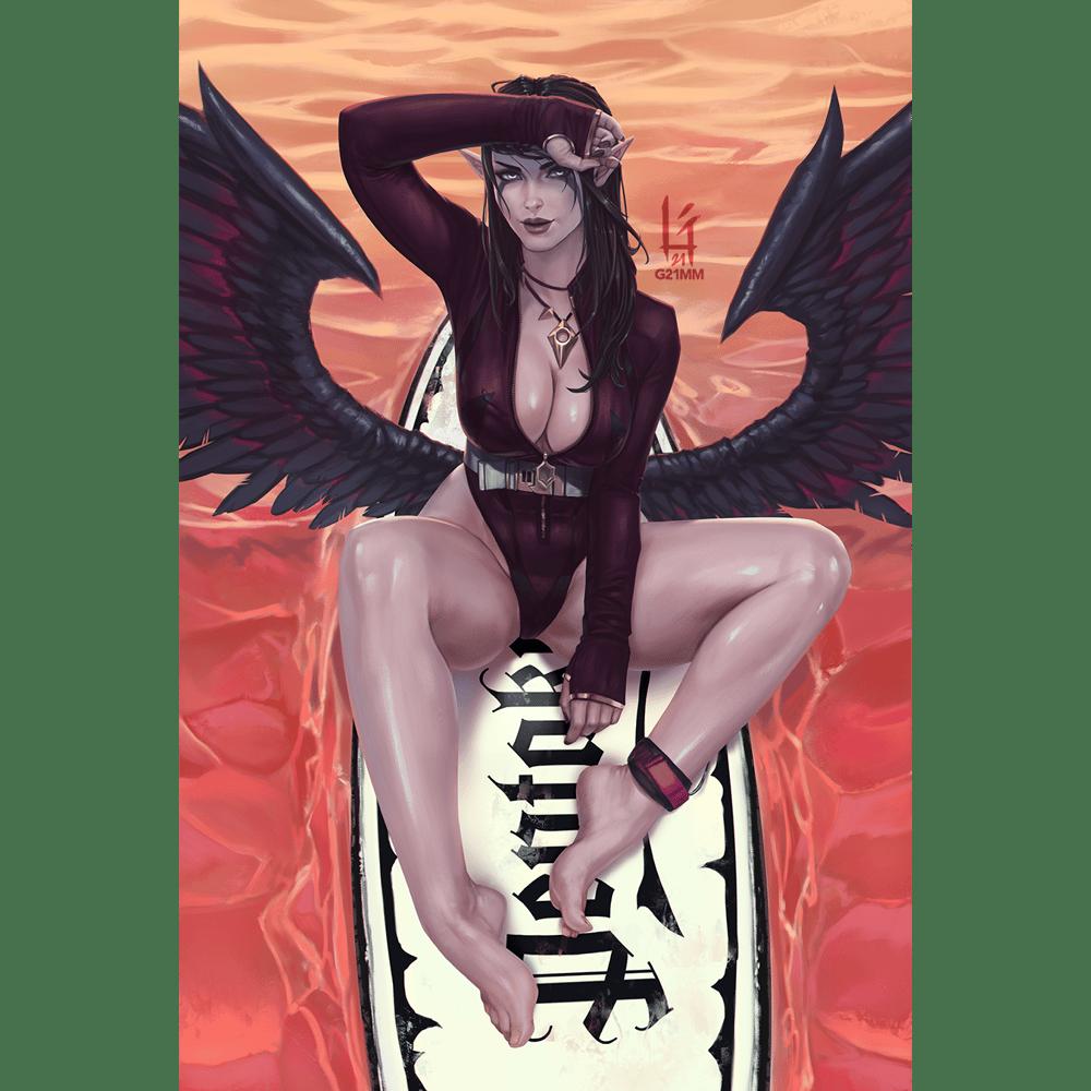 Image of Morgana, Surfer Goth Girl