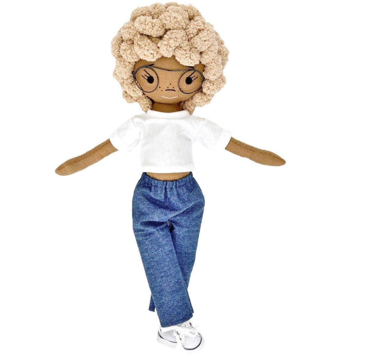 Summer Handmade Linen Doll (Waitlist Preorder Item - ship date Oct 1-Mar 30,2022)