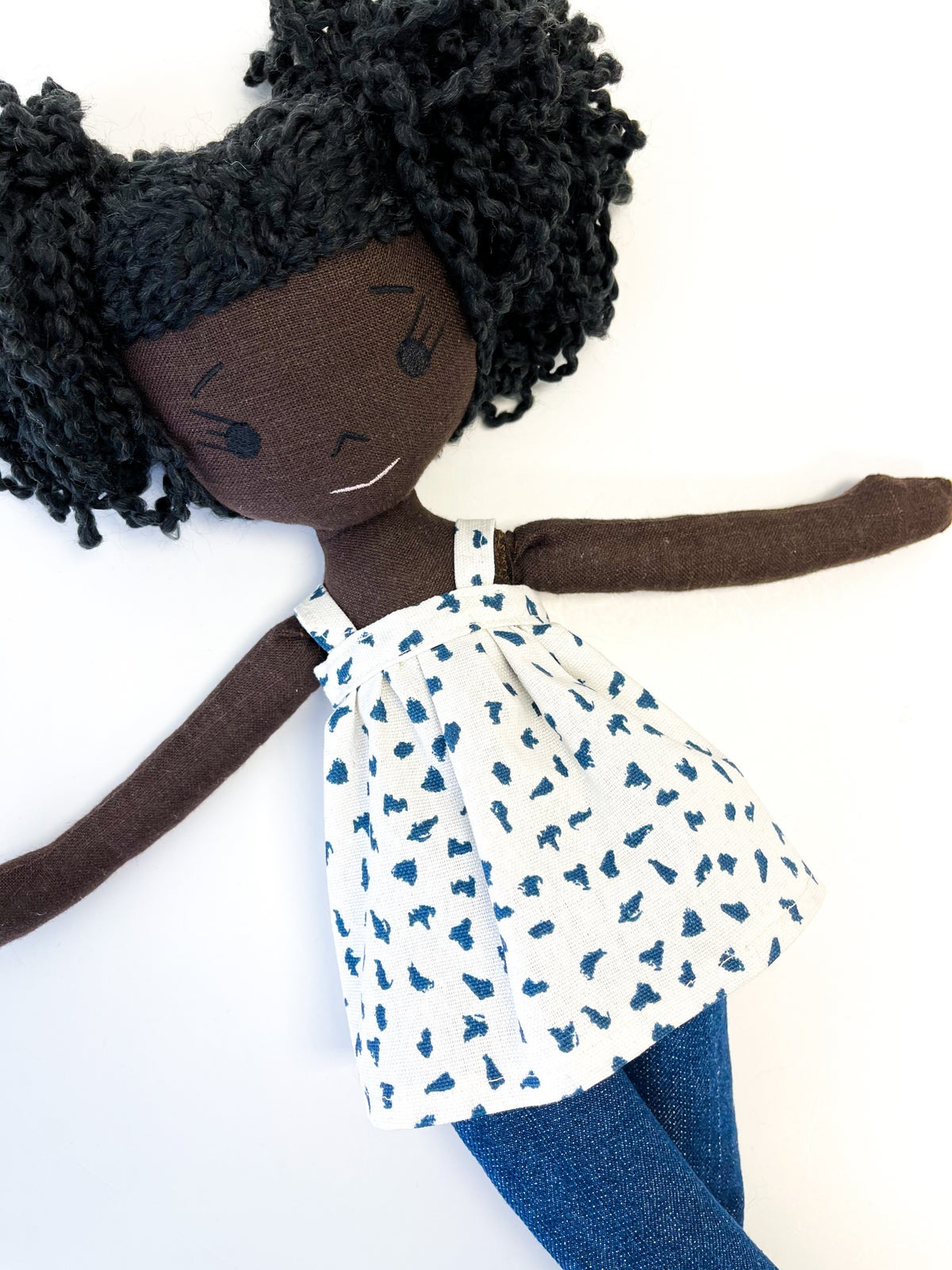 Emi Handmade Linen Doll (THIS ITEM WILL SHIP ON OR BEFORE OCTOBER 10th)