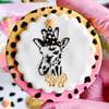 Giraffe with Party Hat - Raised Embosser