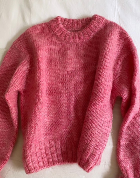Image of Pull rosé mohair