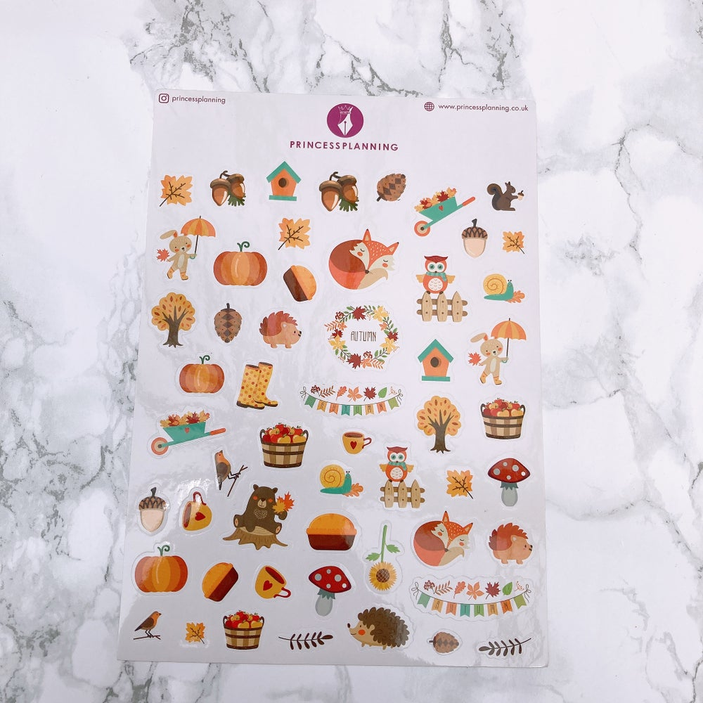 Image of SUPER CUTE AUTUMN PLANNER STICKERS