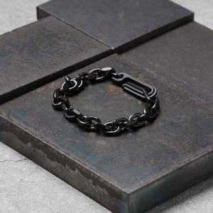 Image of DRILLING LAB - Framework Chain Bracelet (Raw Black)