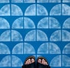 Quarter Circle Stencil for Patios, Floors, Tiles and Walls, DIY Floor Project.