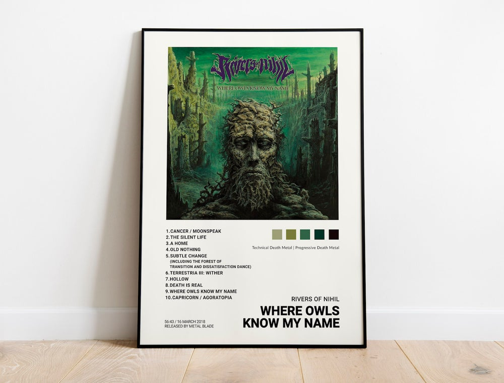 Rivers of Nihil - Where Owls Know My Name Album Cover Poster
