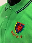 Image of Spirit of 58 Embroidered Polo Shirt lime/Navy