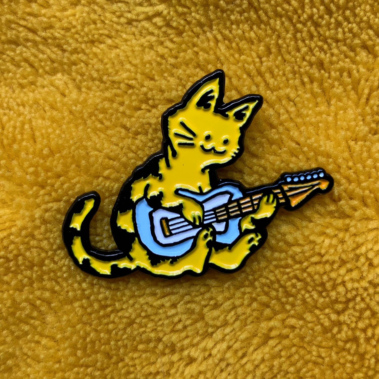Guitar Practice Enamel Pin
