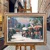 20th Century Swedish School 'Flower Stalls Paris'