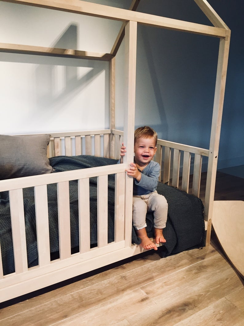 """QUEEN Size Toddler bed 60x80"""" with bed rails Teo Beds' FREE SHIPPING"""