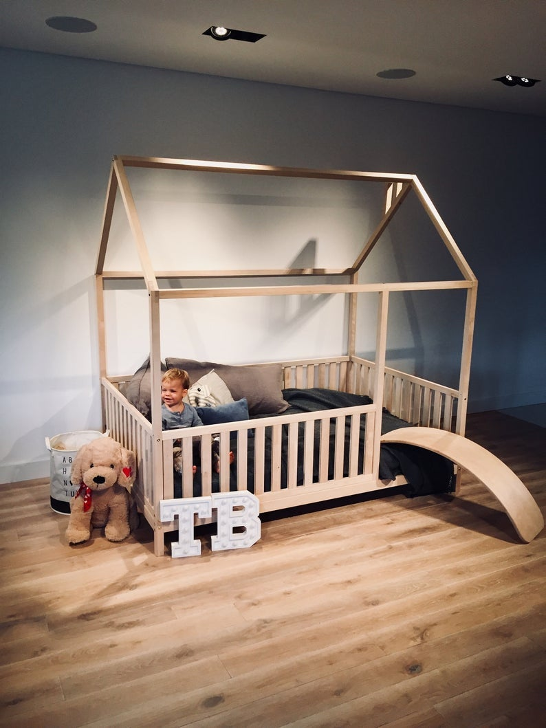 """KING Size 76x80"""" kids' bed with bed rails Teo Beds' FREE SHIPPING"""