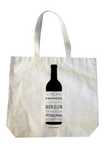 Image of Sonoma Valley Cities Wine Bottle Heavyweight Cotton Canvas Tote Bag