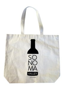 Image of Sonoma Valley Wine Bottle Heavyweight Cotton Canvas Tote Bag