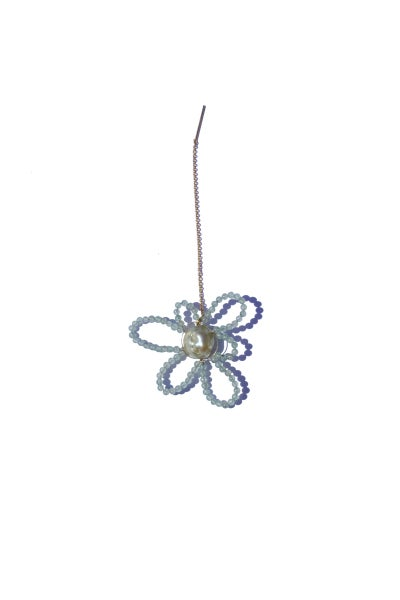 Image of dangling daisy earring