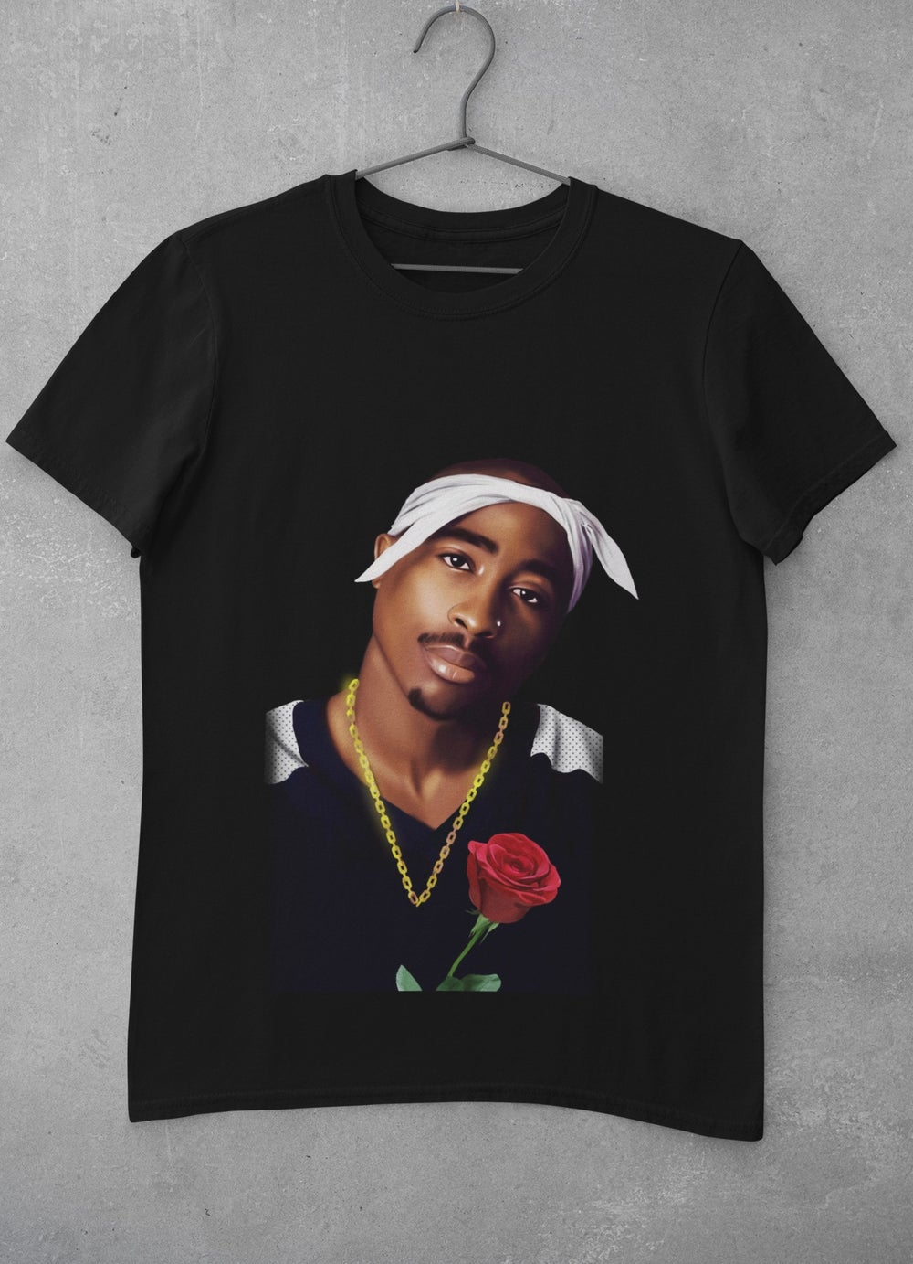 """Image of 2PAC CONCRETE ROSE  """"4EV"""" (LIMITED EDITION) [FRONT/BACK]"""