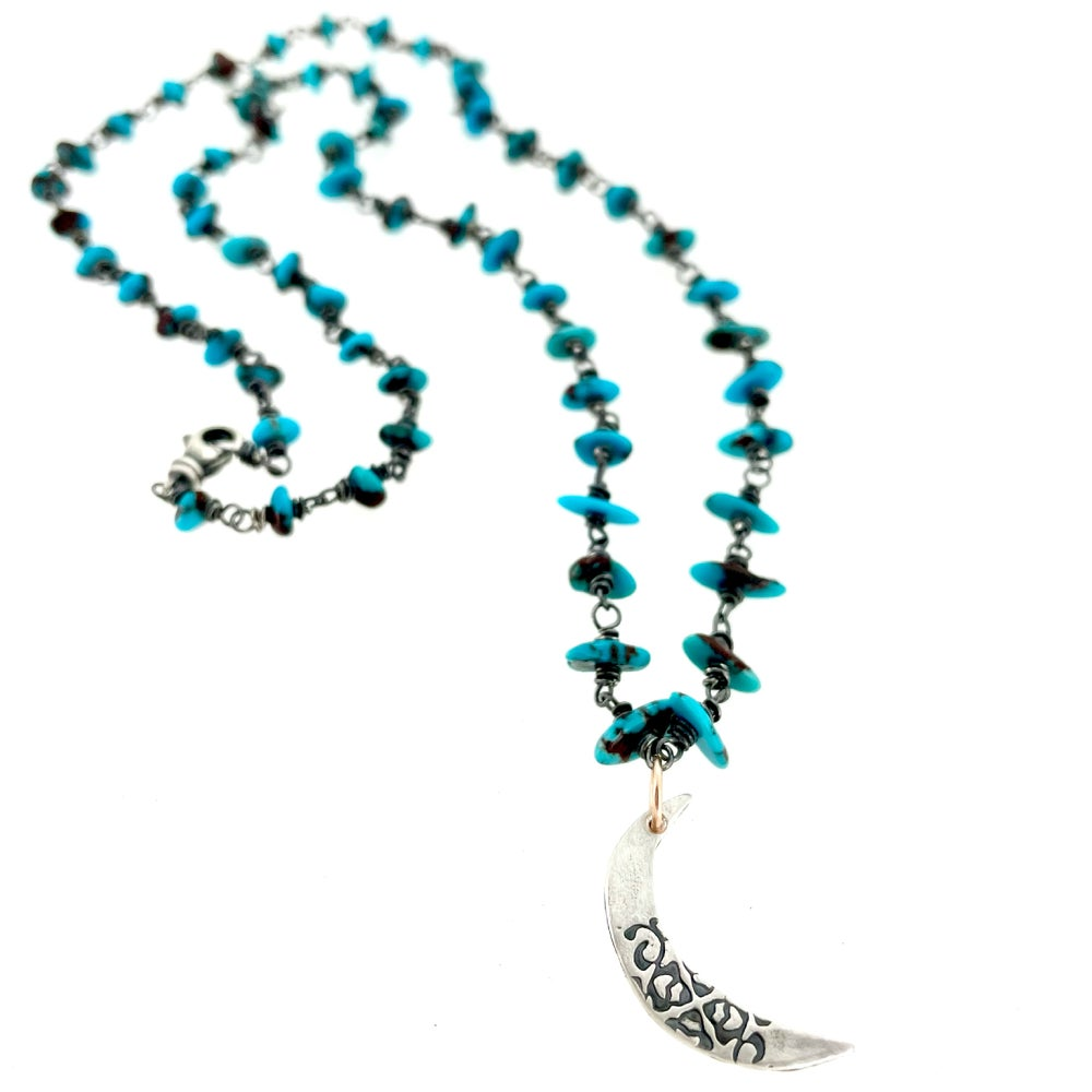 Image of Egyptian turquoise necklace