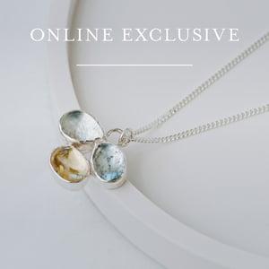Image of Aquamarine Trio Necklace