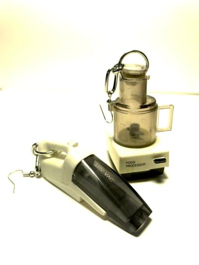 Image of Vintage Mini Vac/Food Processor Earrings
