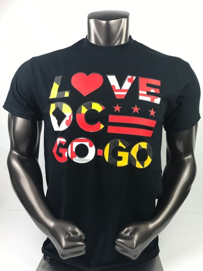 Image of Love DC GOGO- Maryland flag colors (12a1)