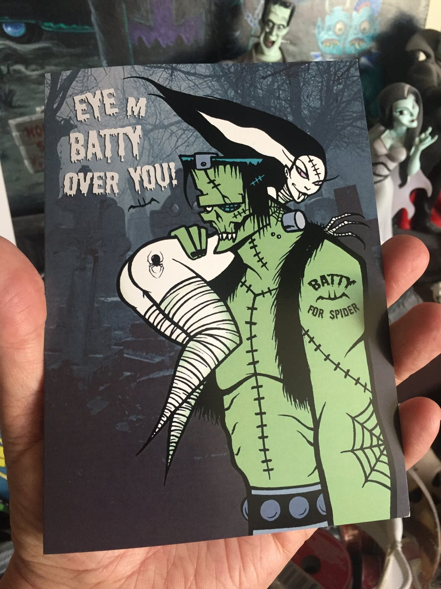 Image of Eye m batty over your - greeting card