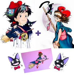 """Image of Limited Edition """"Kiki's Delivery Service"""" Holographic Print Pack"""