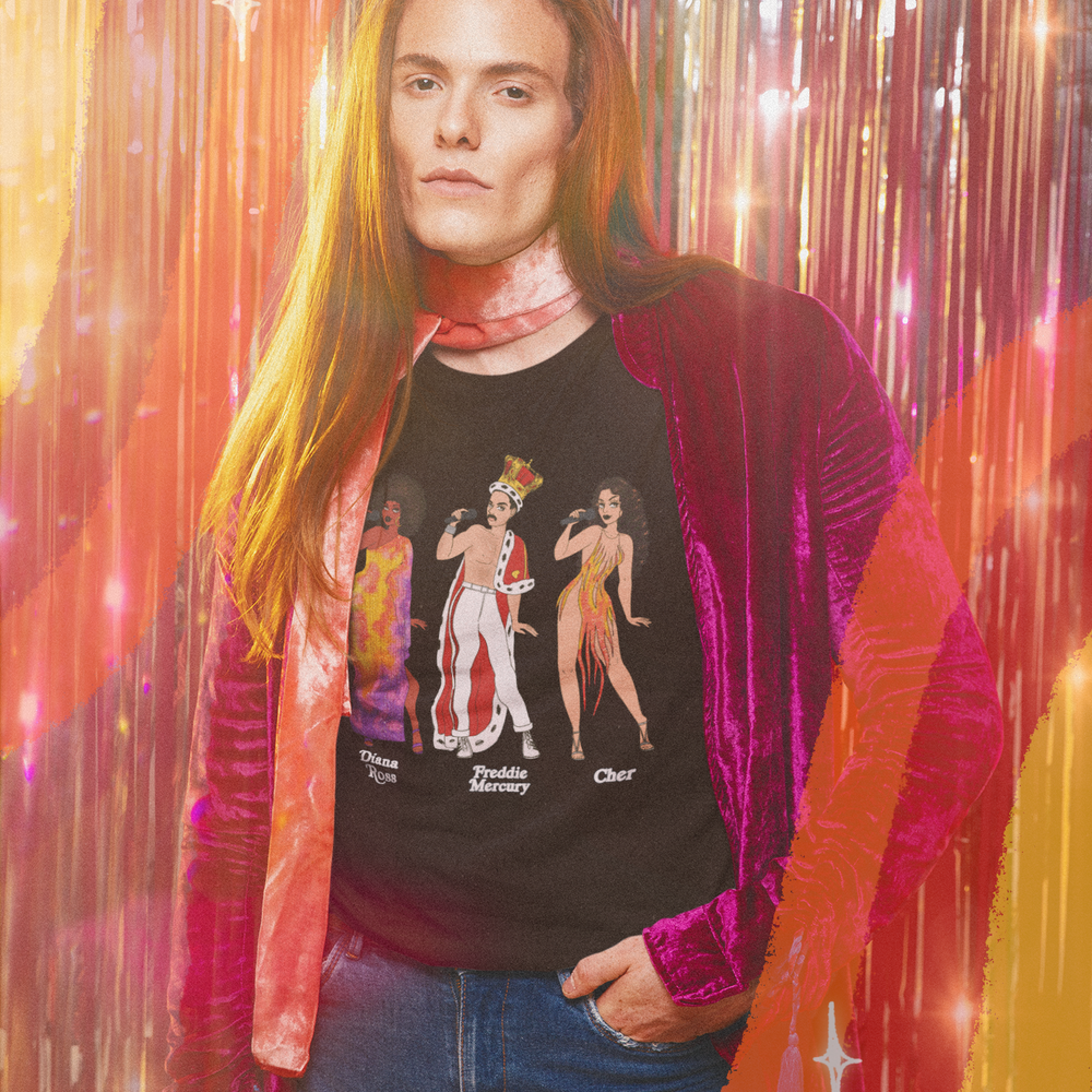 Image of MUSIC ICONS OF THE 70S TEE