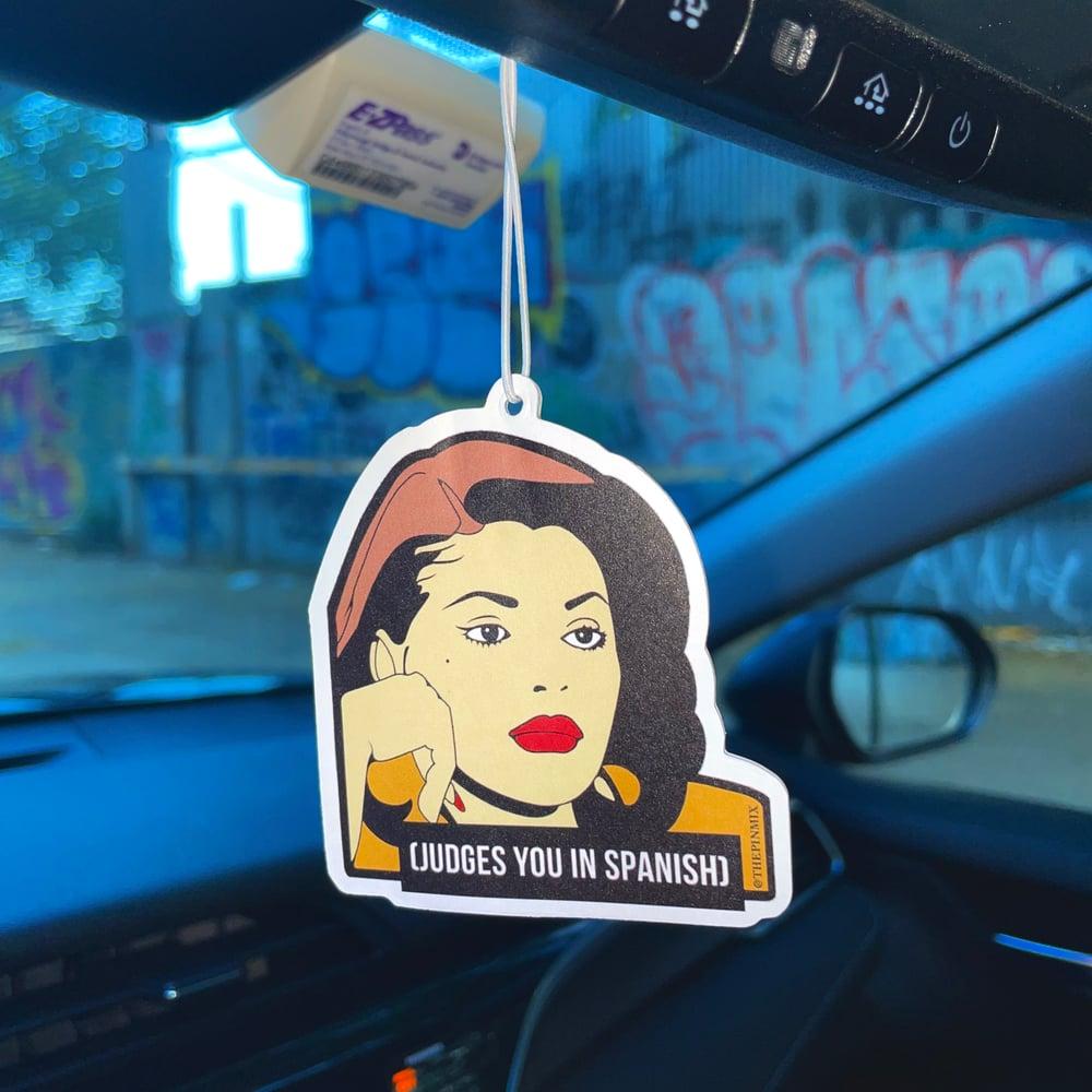'Judges You In Spanish' Air Freshener