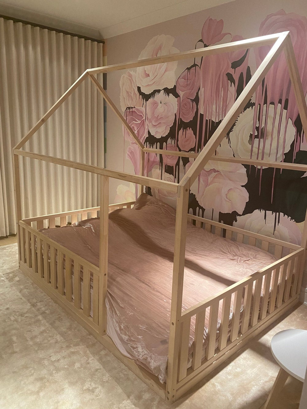 """KING Size 76x80"""" montessori bed with bed rails Teo Beds' FREE SHIPPING"""