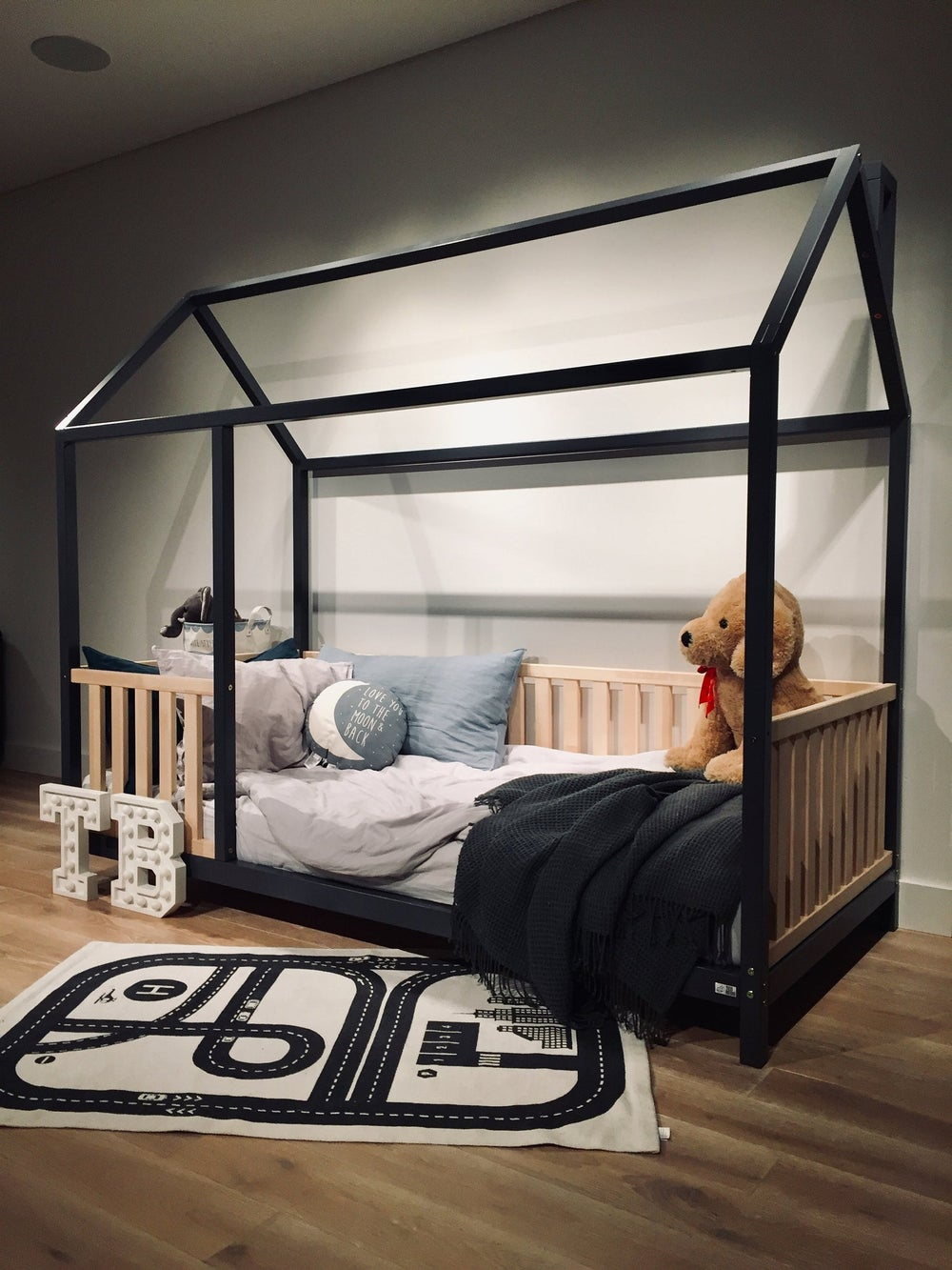 """KING Size 76x80"""" kids' bed with bed rails Teo Beds FREE' SHIPPING"""